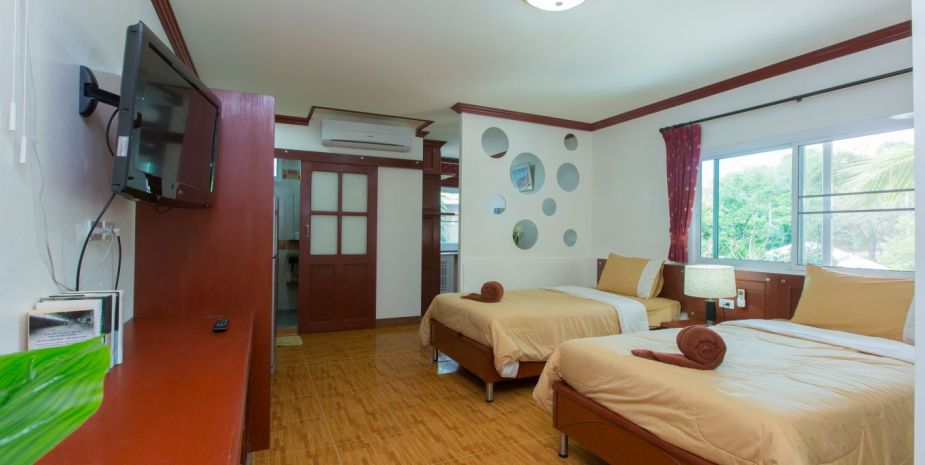 four adults apartment patong